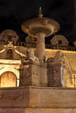 Fount at the Square of San Francisco in Old Havana. An ancient fountain at the Square of San Francisco in Old Havana at night Royalty Free Stock Images