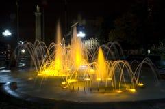 Fountain_1 illuminato Fotografie Stock