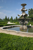 Fountain. In a chateau park Stock Photos