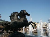 Fountain. As horses (Moscow, Russia Royalty Free Stock Photography