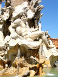 Fountain. Of the four rivers Piazza Navone in Roma Royalty Free Stock Photos
