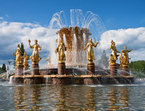 Fountain. Famous fountain of friendship of the nations. Moscow. Russia Royalty Free Stock Images