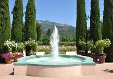 Fountain. At a winery in Sonoma Stock Images
