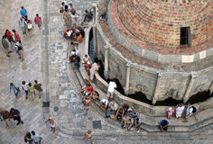 By the fountain in Dubrovnik , Croatia Royalty Free Stock Photo