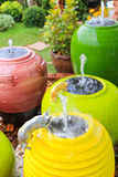 Fountain. In garden(Ceramic pottery Royalty Free Stock Photography