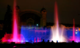 Fountain #2. Singing fountains - famous water show in Prague, Czech Republic Royalty Free Stock Image
