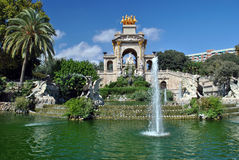 Fountain. In Parc De la Ciutadella in Barcelona, Spain Royalty Free Stock Photos