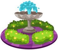 Fountain. Illustration of isolated  fountain on white background Stock Photos
