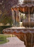 Fountain. Outdoor fountain,sun setting Stock Image