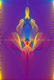 Fountain. Abstract illustration in rainbow colours Royalty Free Stock Photo