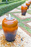 Fountain. In garden(Ceramic jar Stock Images