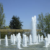 Fountain. Many fountains in a park Royalty Free Stock Images