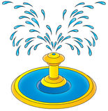 Fountain. Isolated clip-art / children's book illustration for yours design, postcard, album, cover, scrapbook, etc Royalty Free Stock Photos