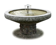 Fountain. With bricks and clear fresh water Stock Photography