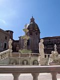Fountain. In centre of Palermo Royalty Free Stock Photo