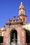 Fountain. Neptuno fountain in the center of queretaro city, mexico Royalty Free Stock Photos