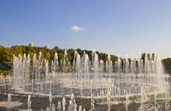 Fountain. The fountain in autumn park Stock Photography