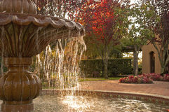 Fountain. Detail of fountain,pond,courtyard Stock Photo