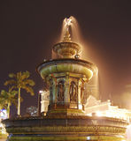 Fountain. A crafted fountain in night scene at dataran merdeka kuala lumpur Stock Images