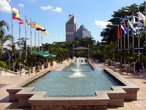 The fountain. In front of Menara Tower, Kuala Lumpur Royalty Free Stock Photo