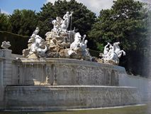 Fountain. In the resideneces garden in vienna stock photography