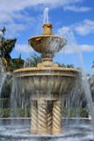 Fountain. Water fountain in a tropical setting Royalty Free Stock Photos