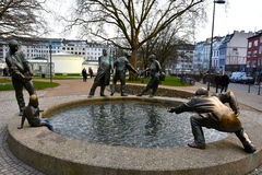 Fountain in Aachen Stock Photography