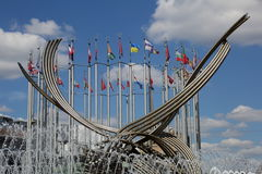 Fountain The abduction of Europe, Moscow, Russia. MOSCOW, RUSSIA - JULY 25, 2015: Fountain The abduction of Europe in the center of Russia's capital Royalty Free Stock Photos