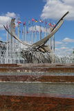 Fountain The abduction of Europe, Moscow, Russia. MOSCOW, RUSSIA - JULY 25, 2015: Fountain The abduction of Europe in the center of Russia's capital Stock Image