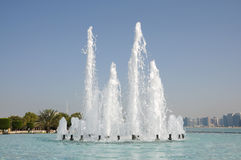 Fountain in Abu Dhabi Royalty Free Stock Image