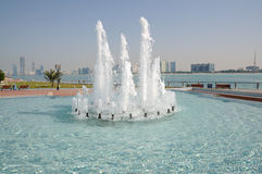 Fountain in Abu Dhabi Royalty Free Stock Photos
