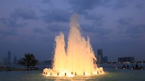 Fountain in Abu Dhabi stock footage