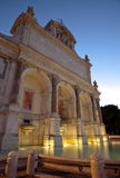 The fountain Acqua Paola in Rome. Night view of The Fontana dellAcqua Paola (Big Fountain) in Rome, Italy Royalty Free Stock Photography