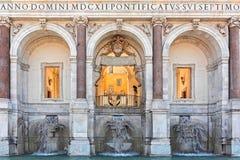 Fountain of acqua Paola Royalty Free Stock Photo