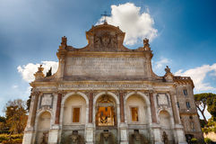 Fountain of Acqua Paola in Rome Royalty Free Stock Photography