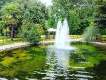 Fountain. A fountain in a acquatic park Royalty Free Stock Photo