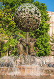 Fountain Adam and Eve in Moscow Stock Photos