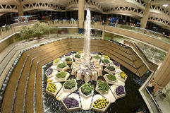 Fountain at Airport in Riyadh, Saudi Arabia Royalty Free Stock Photos