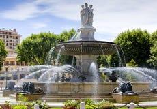 Fountain in Aix-en-Provence stock photo