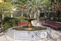 Fountain in the Alameda Gardens in Gibraltar Stock Image