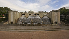 Fountain in Alameda parc, Lisbon royalty free stock photo