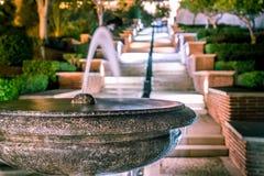 Fountain in the Alcazaba of Almería Spain stock image