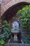Fountain in the Alcazaba of Malaga. Fountain in the medieval Arab castle. Malaga. Spain Royalty Free Stock Image