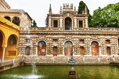 Fountain Alcazar Royal Palace Seville Spain Stock Photo