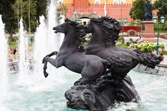 Fountain in alexander garden, Moscow Royalty Free Stock Image