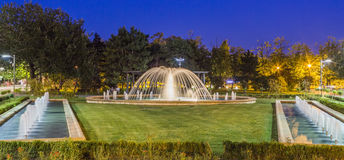 Fountain. At Alexandru Ioan Cuza Park - Bucharest (IOR), Romania royalty free stock image