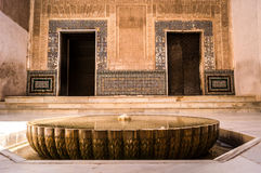 Fountain in the Alhambra arabic palace Stock Image