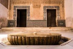 Fountain in the Alhambra arabic palace. In Granada Stock Image