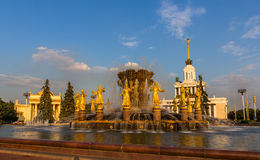 Fountain in All-Russia Exhibition Centre Royalty Free Stock Photography