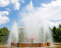 Fountain in Almaty Stock Photography